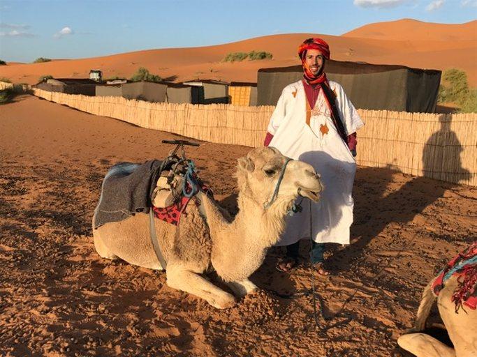 oasis bou ghamin dans le desert du merzouga du voyage au maroc