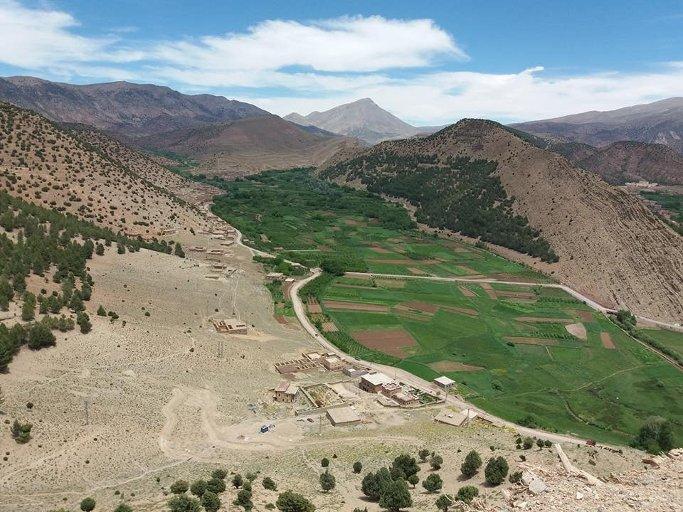 paysage de la vallee heureuse du voyage au maroc