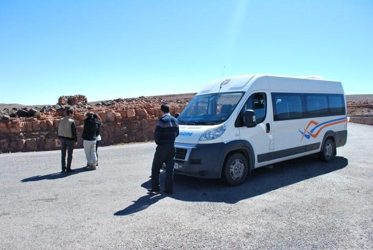 transport retour du voyage au maroc