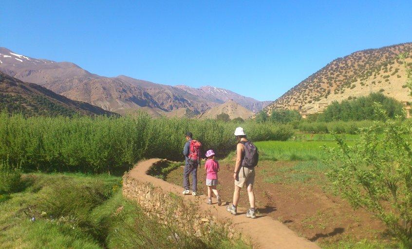 randonnee dans la vallee heureuse du voyage au maroc