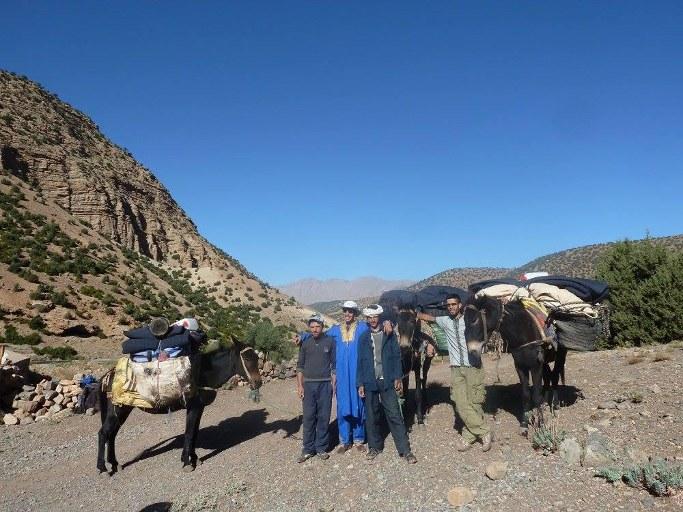 paysage0 de l'excursion pont naturel du voyage au maroc