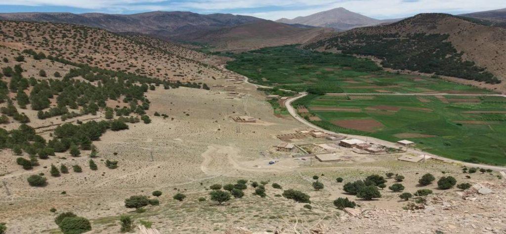 paysage de l'excursion pont naturel du voyage au maroc